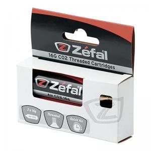 Blister Cartucho de Aire Zefal CO2 Con Rosca 16grs