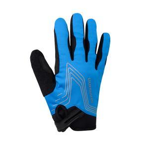 Guantes Largos Shimano Windbreak Azul-Negro