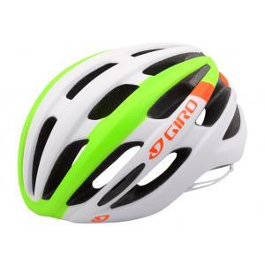 Casco Giro Foray Blanco-Amarillo-Naranja