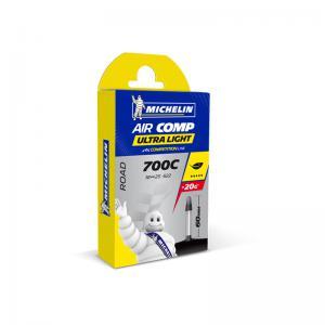 Cámara Carretera Michelin Aircomp Ultralight 700x18-23 Válvula 60mm