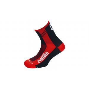 Calcetines Catlike Supplex Road Negro-Rojo