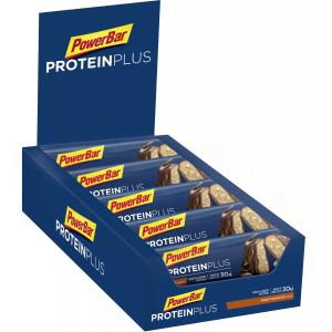 Pack 10 Barritas Energéticas POWERBAR Protein Plus 33% Chocolate Cacahuete
