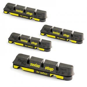 4 Zapatas Freno Carretera Swissstop Flash Pro Compatible Shimano/Sram Carbono Negro