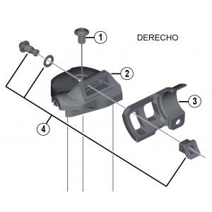 Adaptadores SL-M9000 Shimano XTR Pulsador a Maneta I-Spec II Derecho