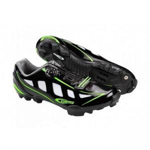 Zapatillas Mtb Ges Rider Negro-Verde Fluor