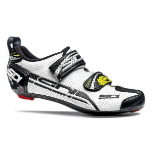 Zapatillas Triathlón SIDI T4 Air Carbón Blanco-Negro