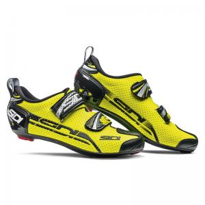 Zapatillas Triathlón SIDI T4 Air Carbón Amarillo Fluor-Negro
