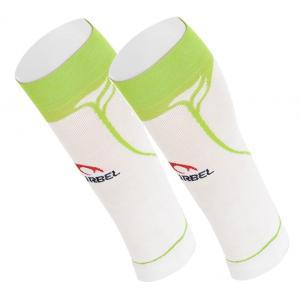 Pantorrillera Compresión LURBEL Racing Blanco-Verde Fluor