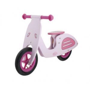 Bicicleta Infantil Sin Pedales Madera M-Wave Vespa Pink