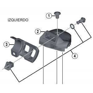 Adaptadores SL-M9000 Shimano XTR Pulsador a Maneta I-Spec II Izquierdo