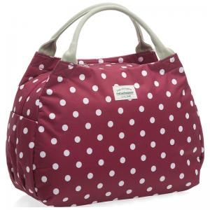 Bolsa New Looxs Polka Tosca Polyester Impermeable Roja-Motas Blancas 16 Litros