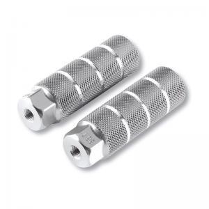 Juego Reposapiés Aluminio 9.5 mm 33x105 Plata