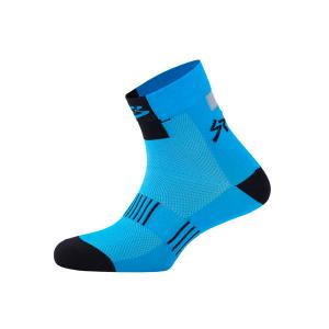 Calcetines Spiuk Top Ten Azul-Negro Caña Media