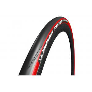 Cubierta Carretera 700x23 Michelin Power Endurance Rojo