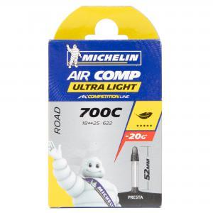 Cámara Carretera Michelin Aircomp Ultralight 700x18-23 Válvula 52mm