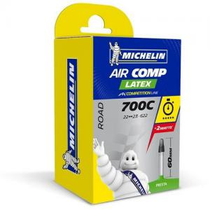 Cámara Carretera Michelin Aircomp Latex 700x22-23 Válvula 60mm