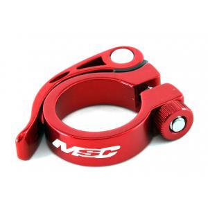 Abrazadera Tija Sillín MSC Con Cierre 31.8mm Rojo