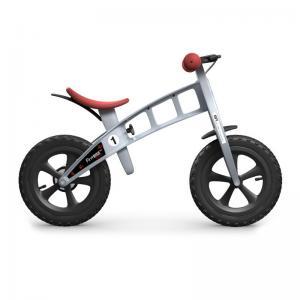 Bicicleta Infantil Sin Pedales FirstBike Cross Plata