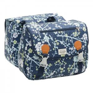 Alforjas New Looxs Joli Double Polyester Impermeables Azul 34 Litros