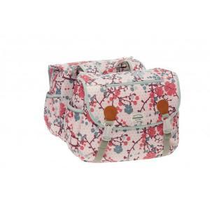 Alforjas New Looxs Joli Double Polyester Impermeables Rosa 34 Litros