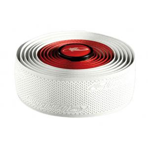 Cinta Manillar Lizard Skins Doble 2.5mm Blanco-Rojo