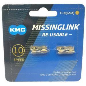 Par Enganches Cadena KMC 10v Oro Compatible Shimano