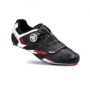 Zapatillas Carretera Northwave Sonic 2 Plus Negro-Blanco-Rojo