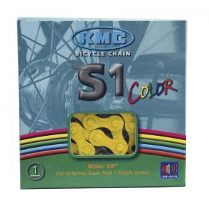 Cadena KMC S1 BMX 1v Amarillo