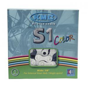 Cadena KMC S1 BMX 1v Blanco