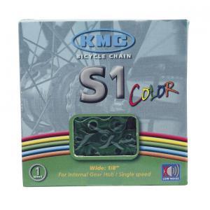 Cadena KMC S1 BMX 1v Verde