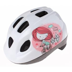 Casco Polisport Kid Princesa Blanco-Rosa