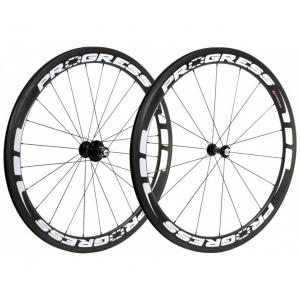 Par Ruedas Carretera Progress A-Prime Compatible Shimano Negro-Blanco