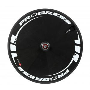 Rueda Carretera Progress A-7D Lenticular Compatible Shimano Negro-Blanco