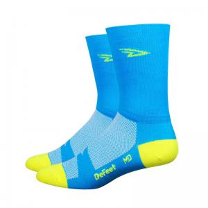 Calcetines Defeet Aireator D-Logo Process Azul-Amarillo