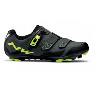 Zapatillas Mtb Northwave Scream 2 SRS Negro-Gris-Amarillo Flúor