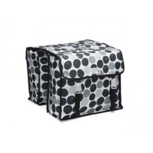 Alforjas New Looxs Dots Fiori Doble Polyester Impermeables Motas Negro 30 Litros