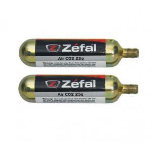 Blister 2 Cartuchos de Aire Zefal CO2 Con Rosca 25grs