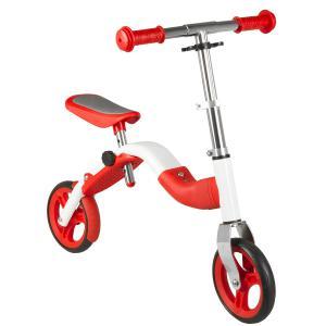 Bicicleta Infantil Sin Pedales M-WAVE 2in1 Blanco-Rojo