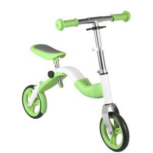 Bicicleta Infantil Sin Pedales M-WAVE 2in1 Blanco-Verde