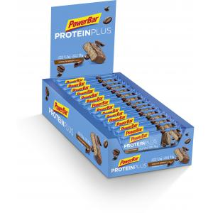 Pack 30 Barritas Energéticas POWERBAR Protein Plus + Low Sugar Chocolate Espresso