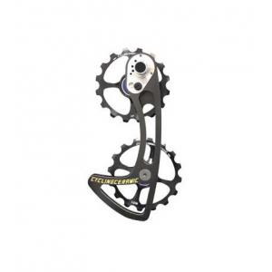 Ruletas Cambio Sobredimensionadas CYCLING CERAMIC Compatible Shimano Negro