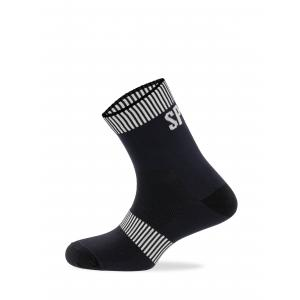 Calcetines SPIUK Top Ten Negro/Blanco Caña Larga