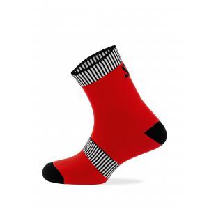 Calcetines SPIUK Top Ten Rojo/Negro Caña Media