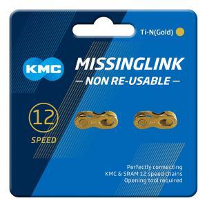 Par Enganches Cadena KMC 12v Oro