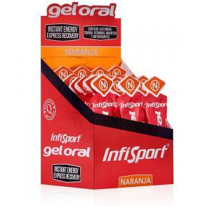 Pack 18 Recuperantes Energéticos Gel Oral INFISPORT Naranja