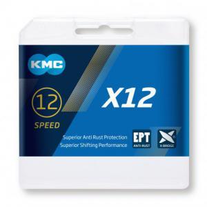 Cadena KMC X12 EPT 12v Plata 126 Eslabones