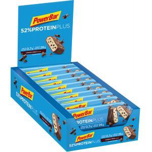 Pack 20 Barritas Energéticas POWERBAR Protein Plus 52% Galletas/Crema