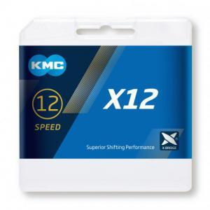 Cadena KMC X12 12v Negro 126 Eslabones