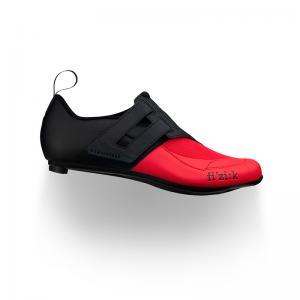 Zapatillas Triatlón FIZIK Transiro R4 Powerstrap Negro-Rojo
