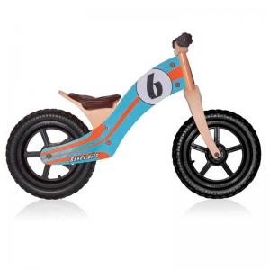 Bicicleta Aprendizaje REBEL KIDZ Air Madera Azul-Naranja